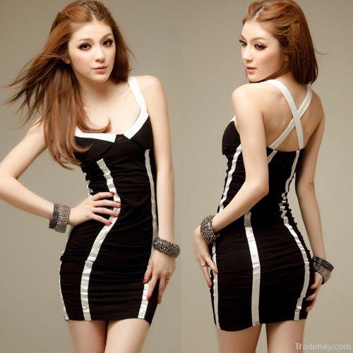 Sexy lady's  evening dress