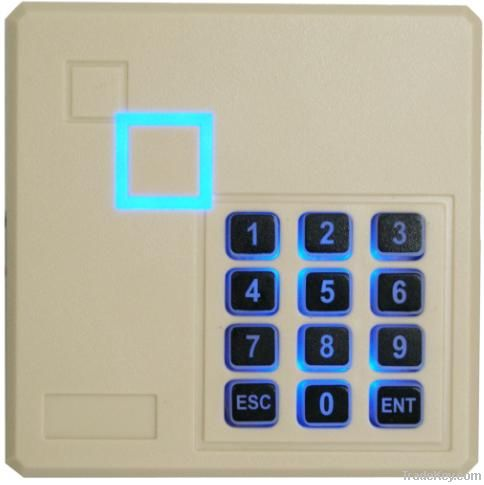 Access control card reader with keypad