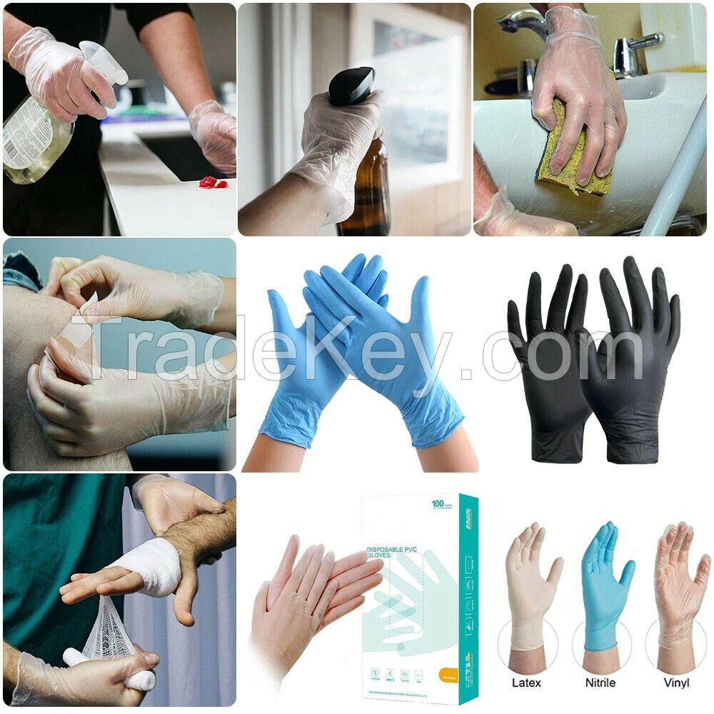 face mask ands nitrile gloves in europe
