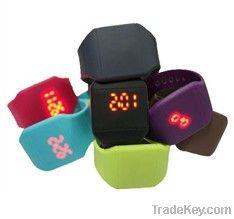 Digital Ultra-thin Silicone LED Watch