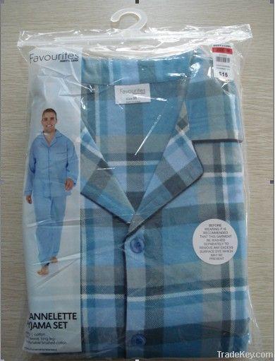 Men's Flannelette Pajamas Set/ Sleepwear