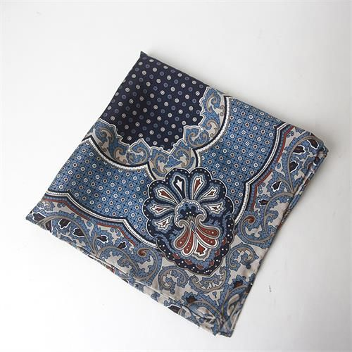 winter warm paisley print wool scarf