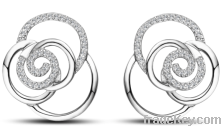 2013 Fashion Silver Earrings for Women/CZ Stud Earrings/Earring