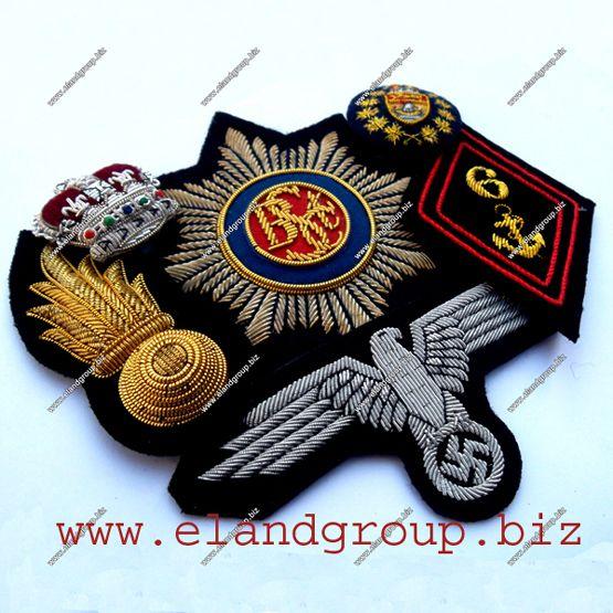 Hand Made Embroidery Bullion Badge