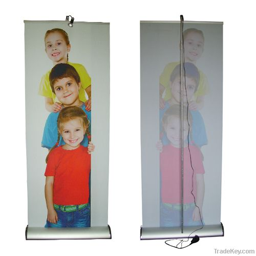Premier roll up stand Of trade show display