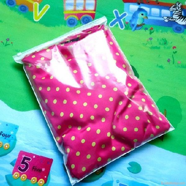 Plastic LDPE ziplock bag for packing clothes