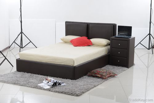 modern faux leather beds LBD022