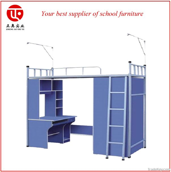 Modern style dormitory bed with desk for sale