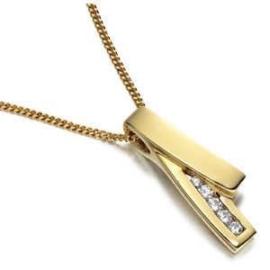 Fashion Jewelry Stainless Steel Pendant with Gold Plating (PZ8652)