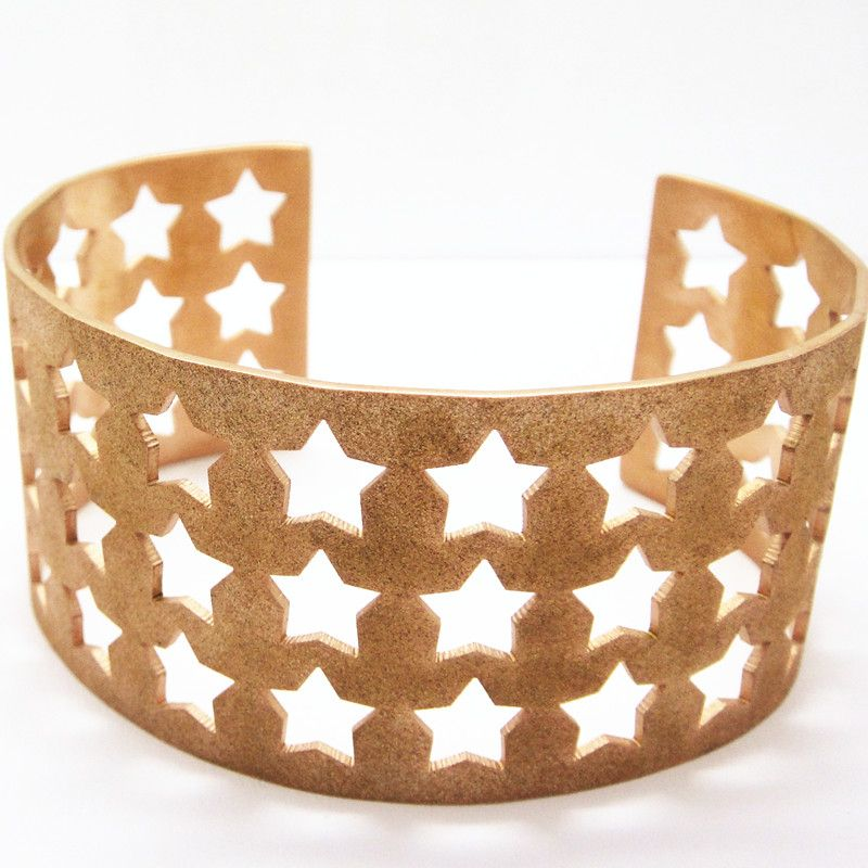 Fashion Jewelry Rose Gold Plated Mesh Stainless Steel Bracelet (BC3652)