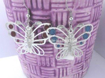 Stainless Steel Butterfly Earrings (EC1405)