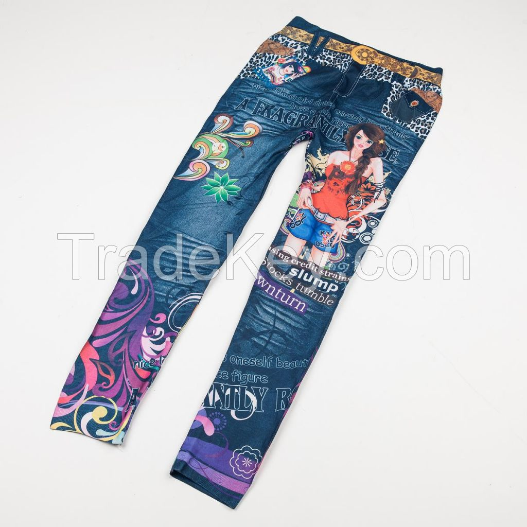 3D printed Sexy Woman Seamless Jeans Leggings jeggings footless jeans like tights