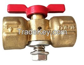 Brass Plug Valves with Red Butterfly Handle