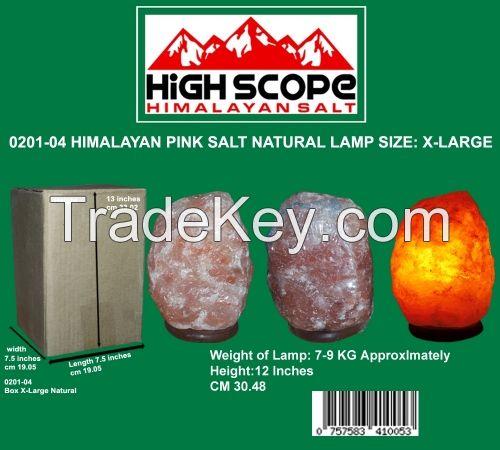 HIMALAYAN PINK CRYSTAL ROCK SALT LAMP NATURAL X-LARGE 12 INCHES HEIGHT