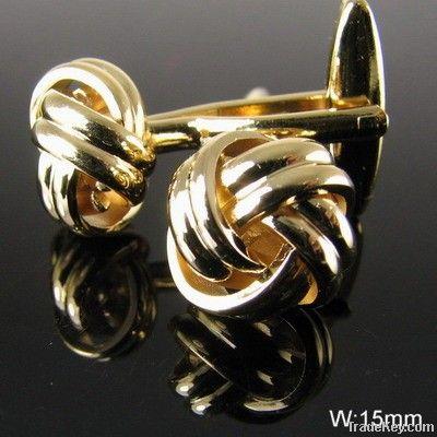 fashion metal men's knot cufflink