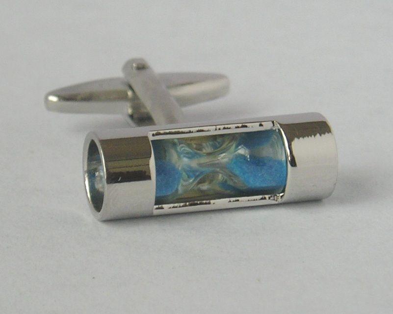 custom design sandglass cufflink