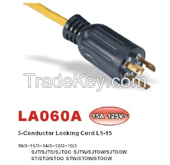 NEMA L5-20P/L5-30P/L5-15P Locking  Power Supply Cord