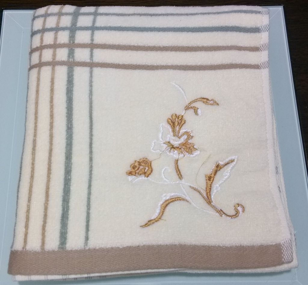 small embroidery bath towel for children cotton towels