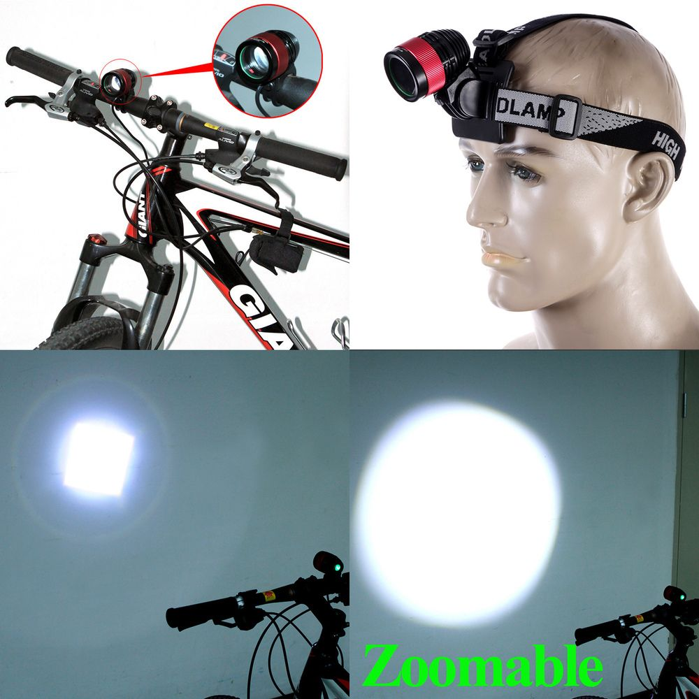 Zoomable CREE T6 LED Bike Light Bicycle Front Lamp Headlight Headlamp