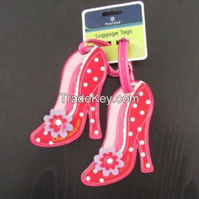 Pink High-heeled shoes Luggage Tag, Novel promotion item, Travel Accessory