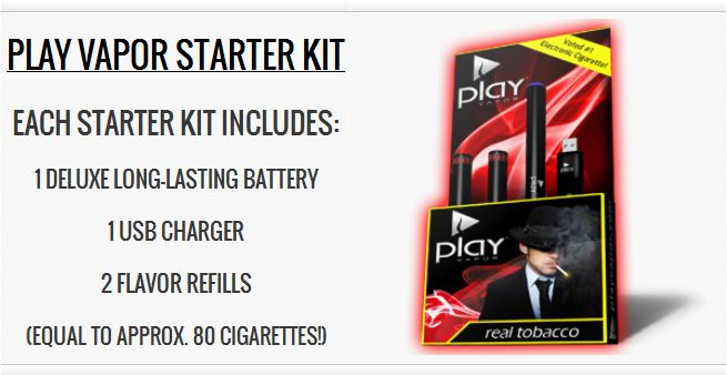 Play Vapor Electronic Cigarette Light Tobacco Starter Kit