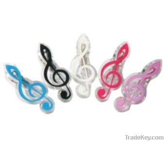 Clip with music note