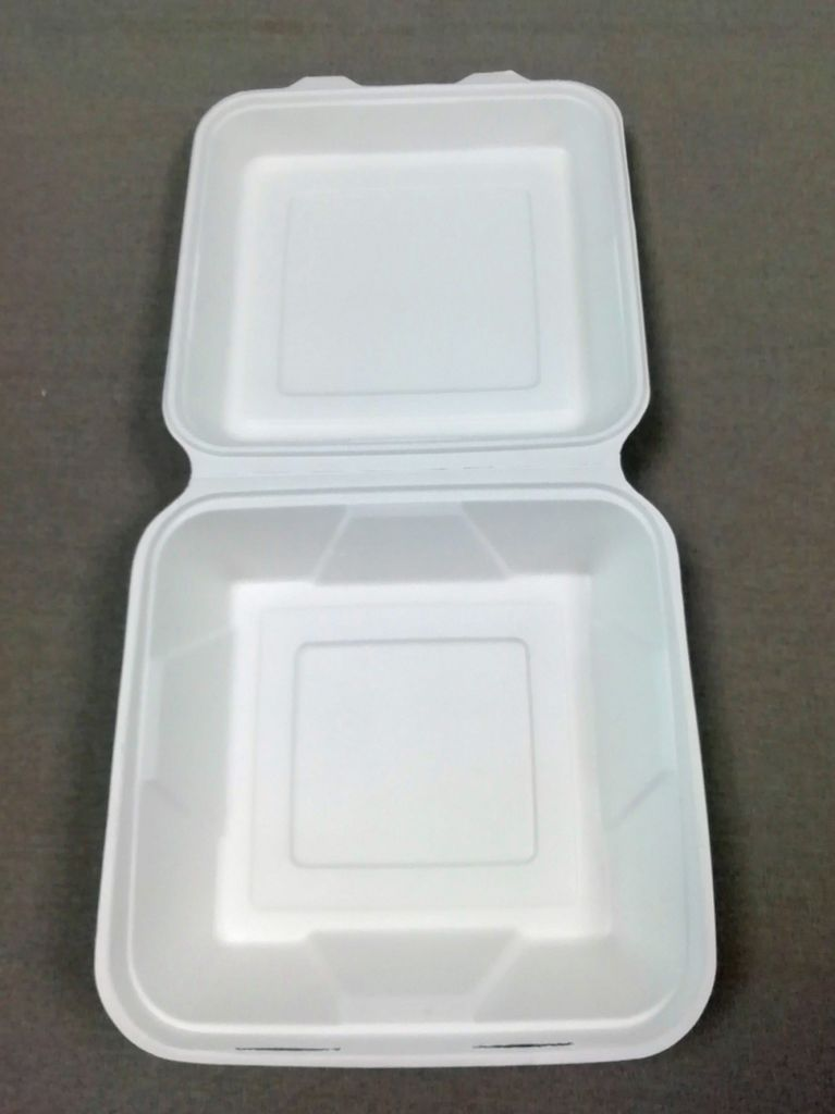 8 /10 inch  Three Compartments Compostable natural-pulp Lunch Box