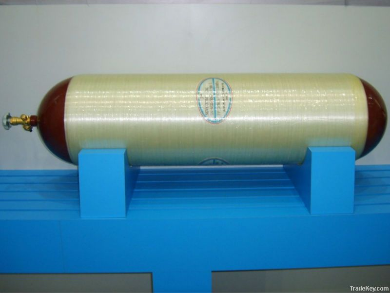 CNG steel lined glass fibre hoop wrpped cylinder