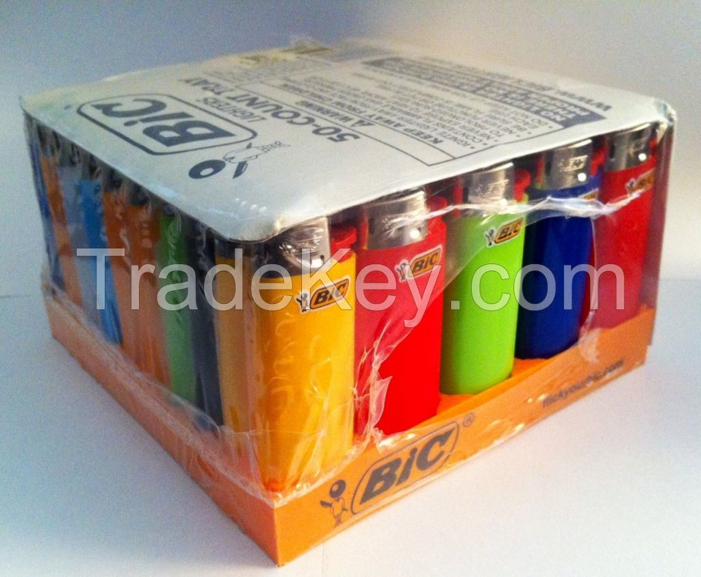 BIC Lighters, Disposable or Refillable like Big Bic Lighters / colored refill lighter gas
