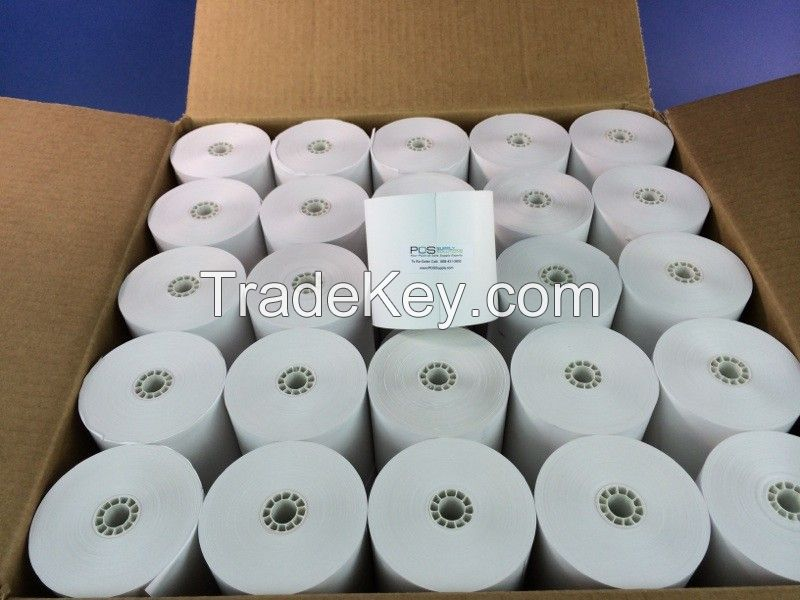 BPA-Free Pure White Thermal Paper Rolls 80mm / Coreless Thermal Paper Rolls / 60gsm Thermal