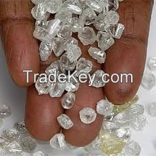 Gold Dust and Dore Bars and Rough and Uncut Diamonds