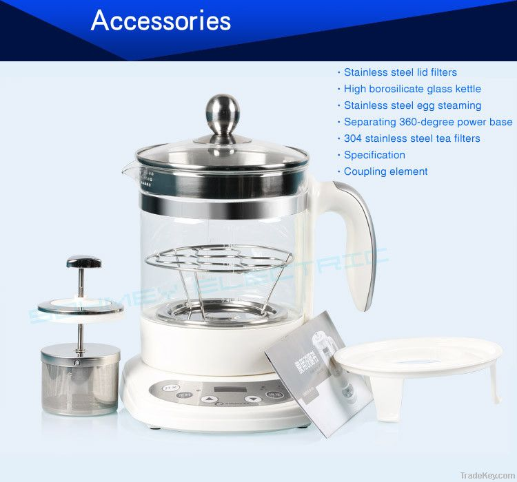 Electric Borosilicate Glass Kettle Adopts Stainless Steel Base