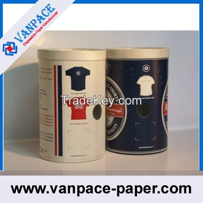 Paper Tubes for Clothes/ T-Shirts/ OEM Service/ White Paperboard Tubes