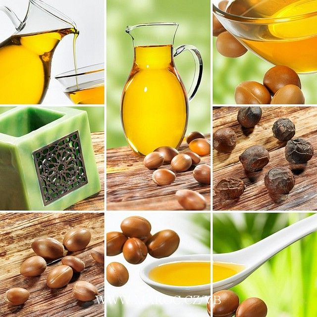 Argan Oil , rhassoul clay, essential oils , herbs, peanut oil