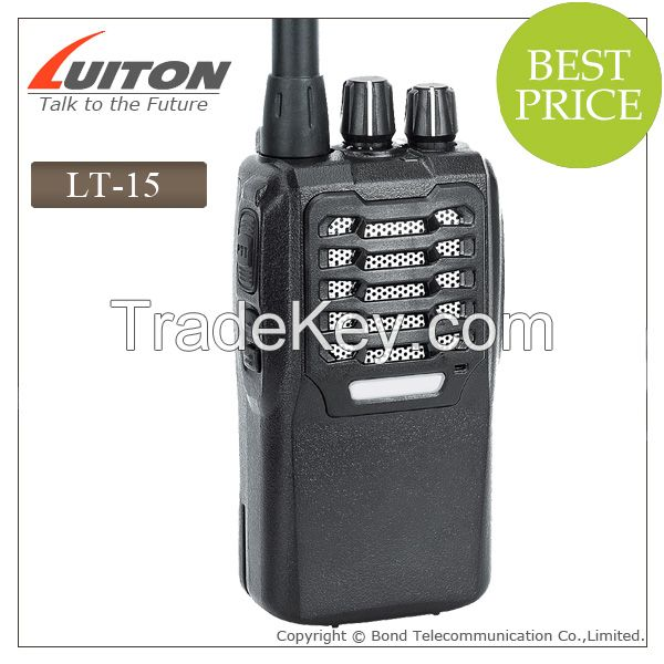 LT-15 vhf uhf ham radio transceiver with 1+1 Smart chargers