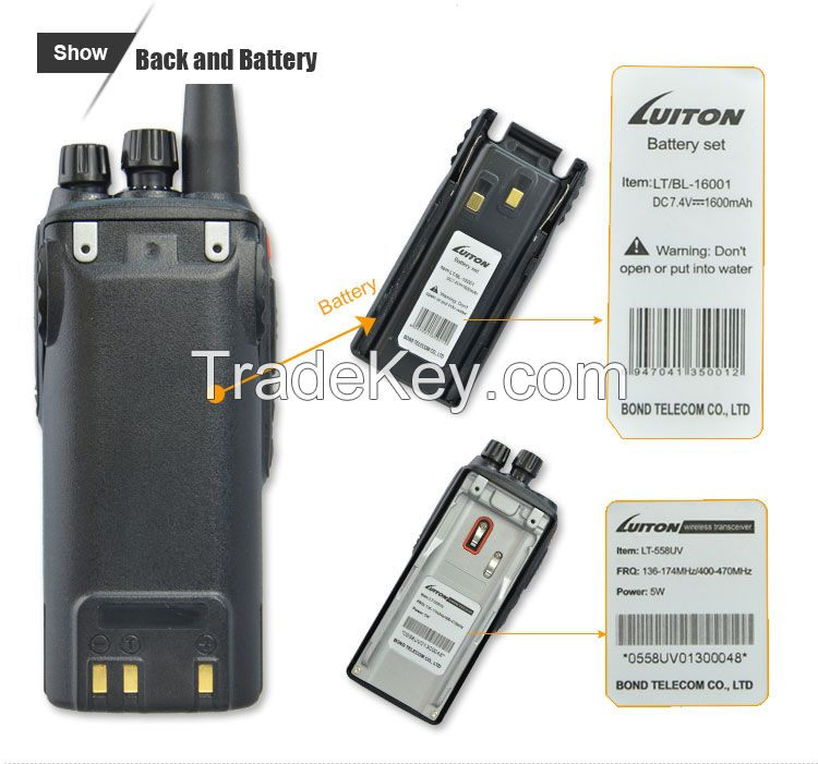 Hot-selling LT-558UV 2 band walkie talkie