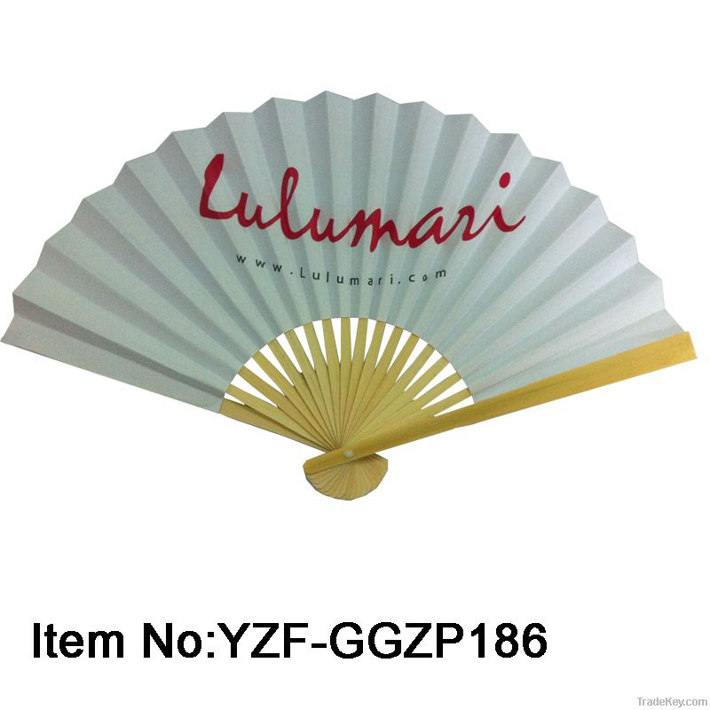 Paper folding fans made of bamboo for holiday gifts
