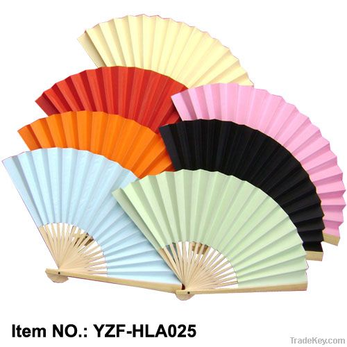 White paper hand fans for wedding gift