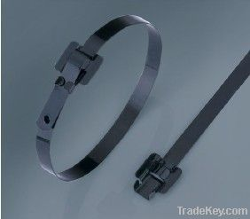 Stainless Steel Epoxy Coated Cable Tie releasable type
