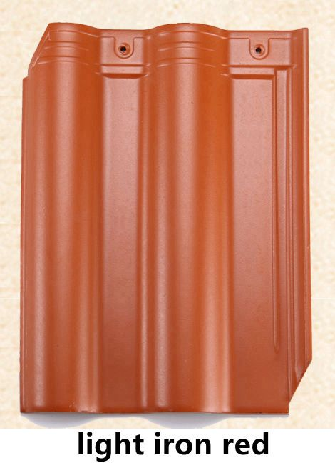 300x400mm ceramic roof tile-iron red