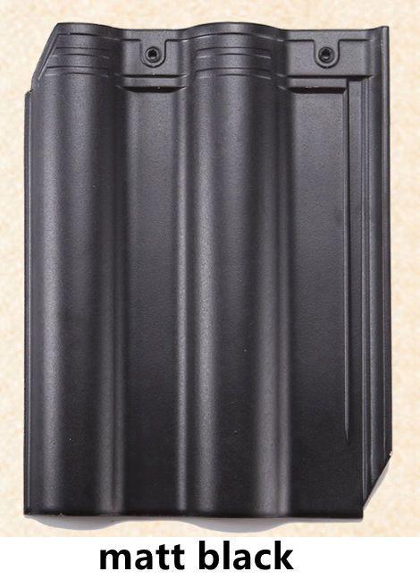 300x400mm ceramic roof tile-matt black