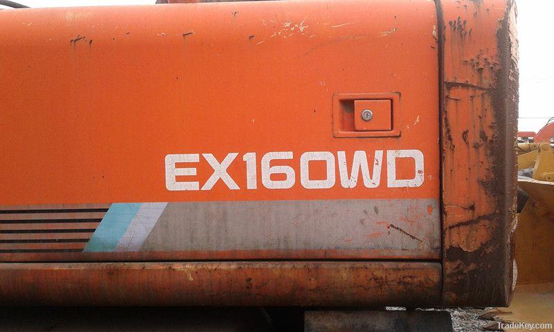 Used Wheel Excavator, Hitachi EX160WD