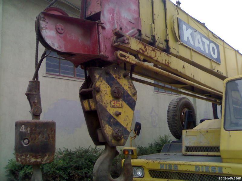 Used KATO Truck Crane NK350E, Original
