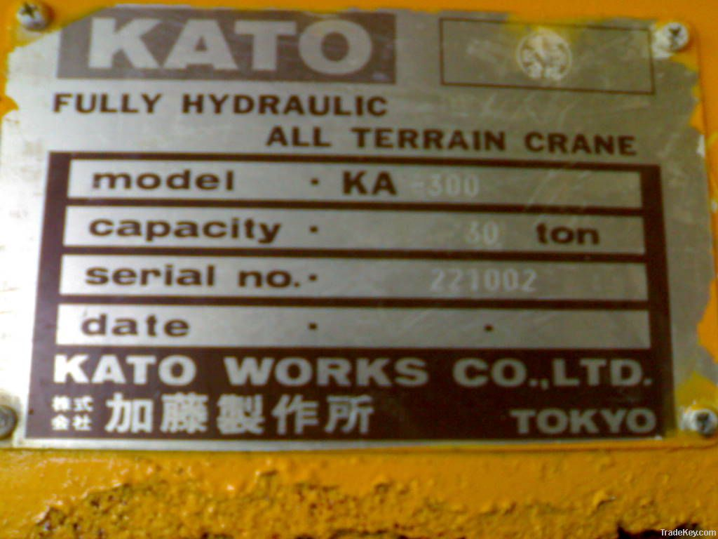 Used Rough Terrain Crane, KATO KA-300