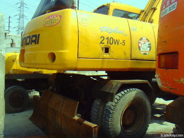 Used Hyundai Wheel Excavator R210W-5