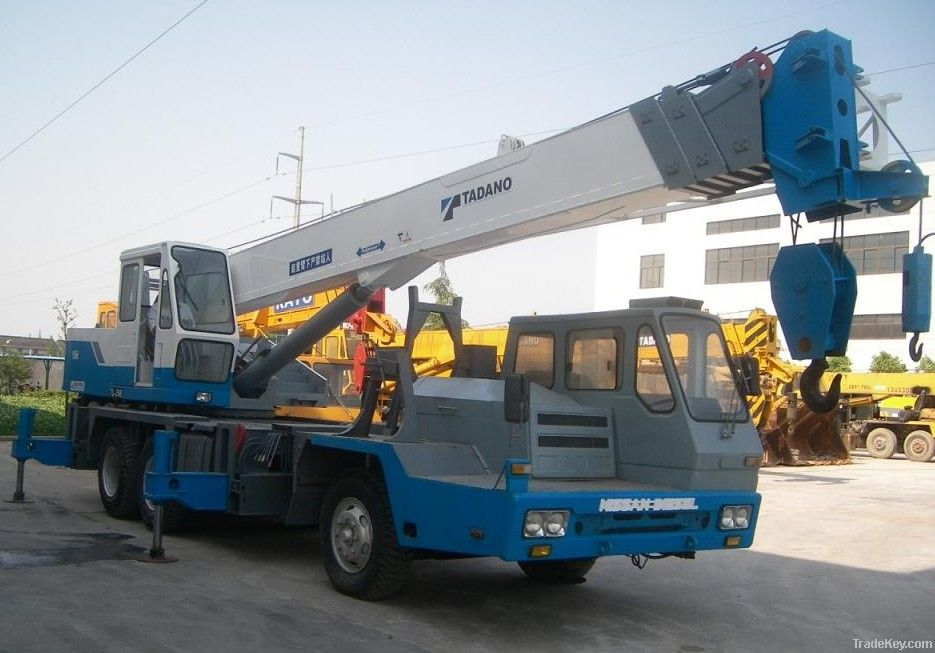 Used truck crane for sale tadano tl250e used cat motor for Motors used in cranes