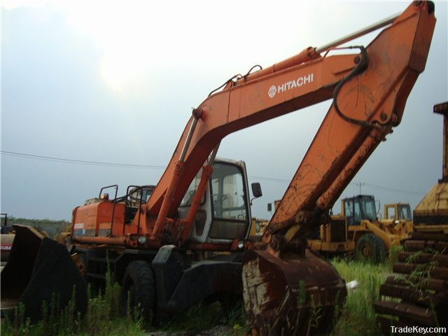 Used Japan Wheel Excavator Hitachi EX160WD
