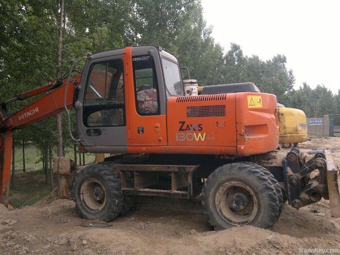 Used Wheel Excavator, Hitachi ZX130W Excavator