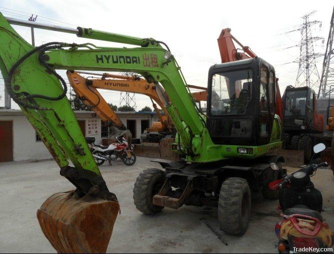 Used Mini Wheel Excavator, Hyundai R60W-5