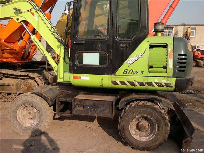 Used Wheel Excavator, Hyundai Wheel Excavator R60W-5